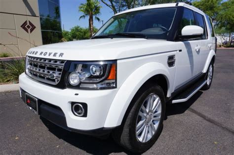 14 White Land Rover Lr4 Hse Lux Suv Like Range Rover 2010