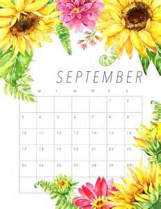 Kalender 2018 August September Free Printable 2017 Floral Calendar The Cottage Market