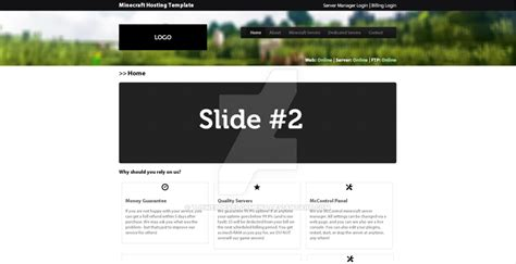 Minecraft Hosting Website Template By Tjswebdevelopment On Deviantart Minecraft Website Template