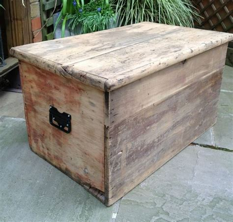 old vintage wooden chest trunk blanket box shabby chic