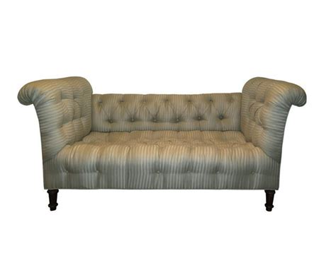 low settee tufted chesterfield style low settee the local vault