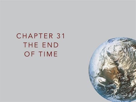 Chapter 31 The Collapse Of The Order Outline by Daily Bible Blast The Story Chapter 31 The End Of Time