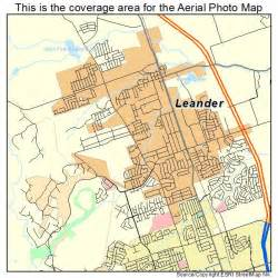 aerial photography map of leander tx