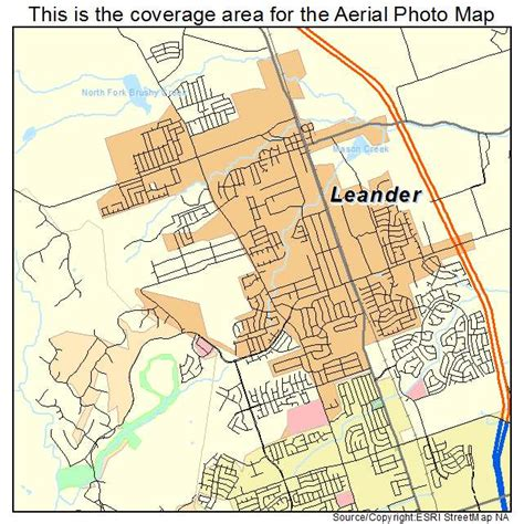 leander texas map aerial photography map of leander tx texas