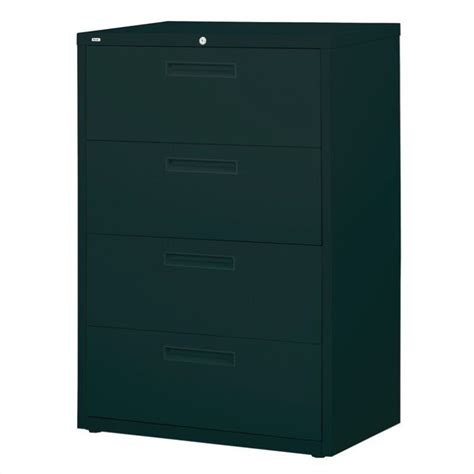 Black Lateral File Cabinet 4 Drawer Lateral File Cabinet In Black 14968