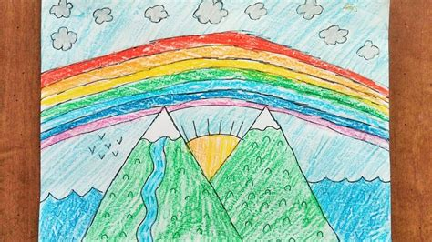Sketches For 8 Year Olds by 8 Year Teaches Quot How To Draw Mountain Scenery