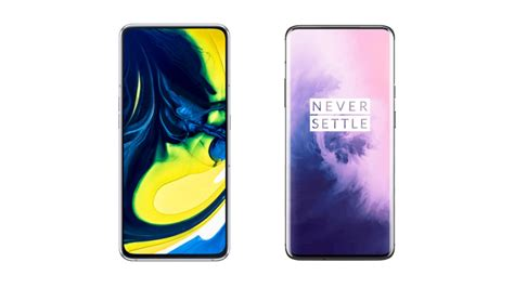 Samsung Galaxy A80 Ndtv by Comparison Between Samsung Galaxy A80 And Oneplus 7 Pro स मस ग ग ल क स ए80 और वनप लस 7 प र