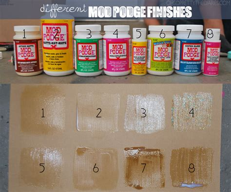 What Can You Decoupage - what the different finishes of mod podge look like