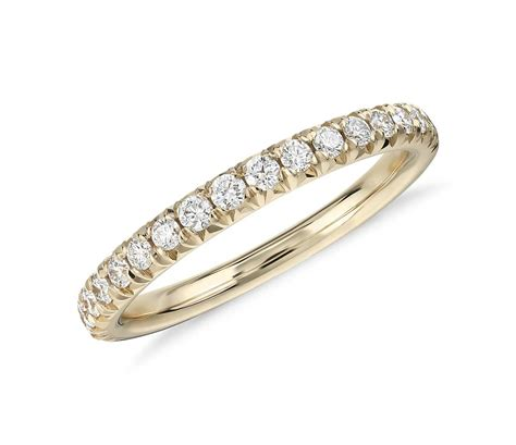 pave rings pav 233 ring in 14k yellow gold 1 4 ct tw