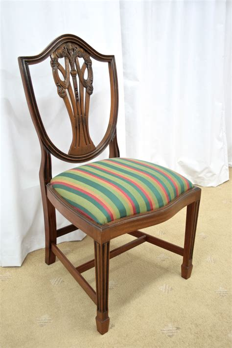Antique Dining Chairs For Sale Six Mahogany Shield Back Dining Chairs For Sale Antiques Classifieds