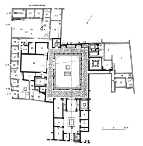 Pompeii House Plan House Of Menander Plan Pompeii 2nd C Bc Hellenized Domus The Of The House Was Added
