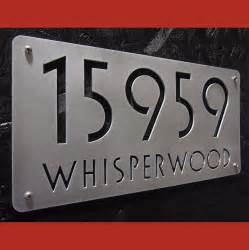 home address signs custom deluxe address sign in brushed aluminum