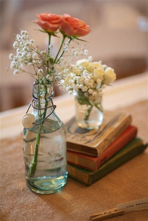 sweet simple centerpiece i like that its not too rustic