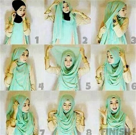 Segi Empat Mezora 7 cara memakai jilbab segi empat untuk sekolah