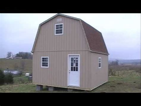 story barn cabin shed youtube
