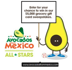 Grocery Store Sweepstakes - avocados from mexico all stars sweepstakes win a 5 000 grocery store gift card
