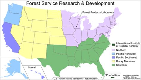 forest service region map u s forest service climate change emphasis area