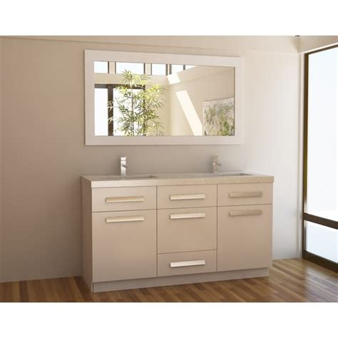 overstock bathroom vanity moscony white 60 inch double sink vanity set overstock