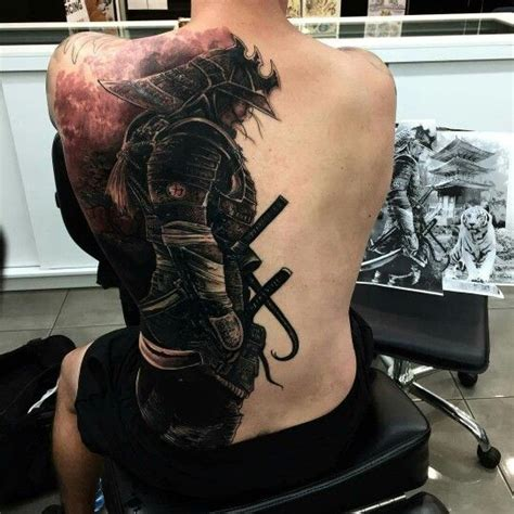 tattoo samurai black ink samurai tattoo on man full back