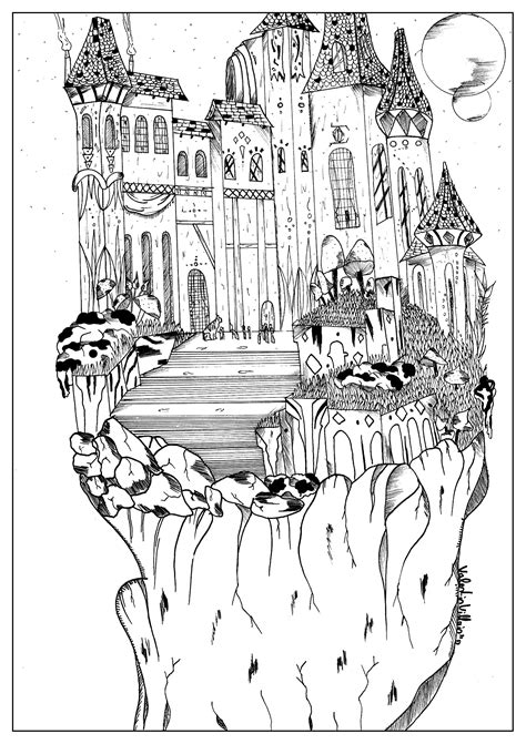 Castle - Coloring Pages for Adults