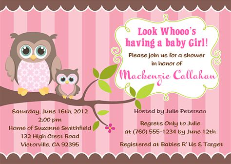 owl baby shower invitations theruntime