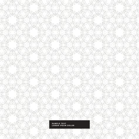 Vector Silver White silver floral pattern on a white background vector free