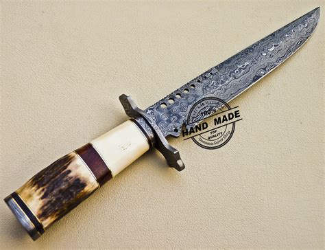 Damascus Handmade Knives - damascus bowie knife custom handmade damascus bowie knife 1040