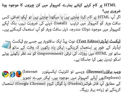 tutorial html in urdu html tutorial in urdu step