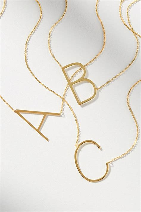 Anthropologie Letter Necklace