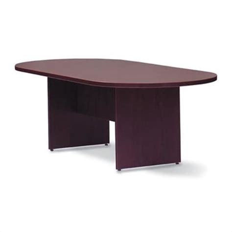 Racetrack Conference Table Offices To Go 10 Wood Racetrack Conference Table With Slab Base Sl12048rs