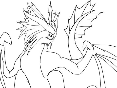 cloudjumper dragon coloring page httyd stormcutter lineart 2 by blackdragon studios on