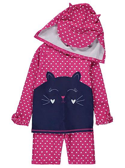 Sun Protection Set 3 novelty cat sun protection set george at asda