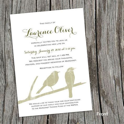 mourning cards templates modern mourning cards for memorial funeral by
