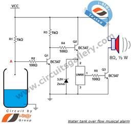 um66 based water tank flow musical alarm circuit circuits gallery