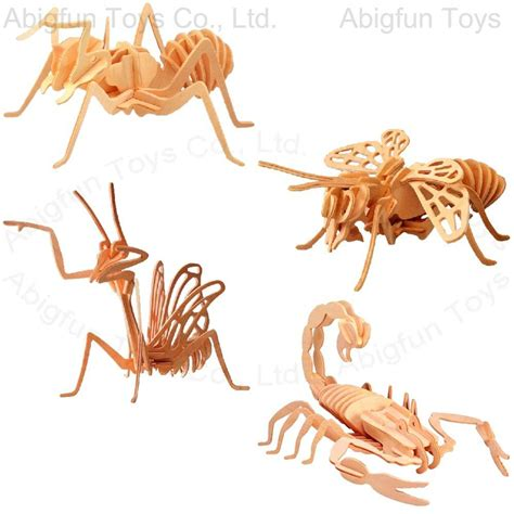 Cricket Wooden Craft 3d wood craft model insect construction kit 423 436 abigfun china manufacturer wooden toys