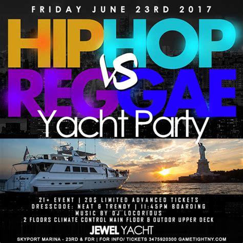 yacht boat party nyc hip hop vs reggae yacht party at skyport marina jewel