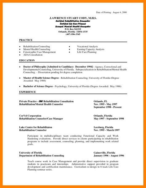 mental health resume mental health clinician resume sles