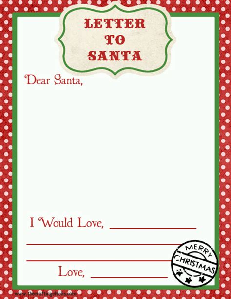charity letter to santa letter to santa free printable