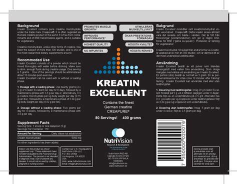 2 5 g creatine a day kreatin excellent nutrivision sweden by dr ali a mohamedi