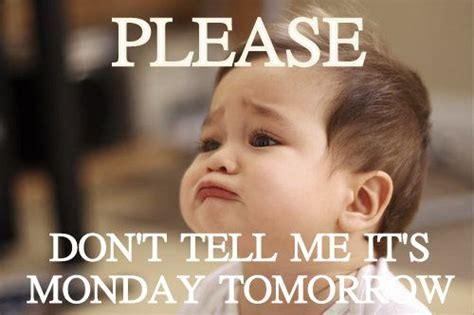 Its Monday Tomorrow Meme - 60 funny monday quotes to make you feel awesome