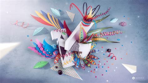 Wallpaper Craft Wallpapers | 2014 paper craft wallpaper by ink studio strictlypaper