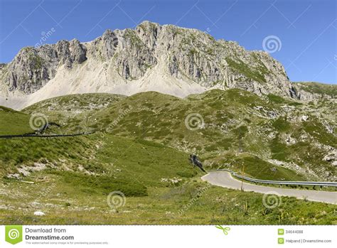 leonessa web mountain road on terminillo eastern side rieti royalty