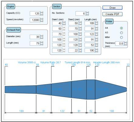 Exhaust System Design Calculations Torqsoft Two Stroke Exhaust System Designer Programme