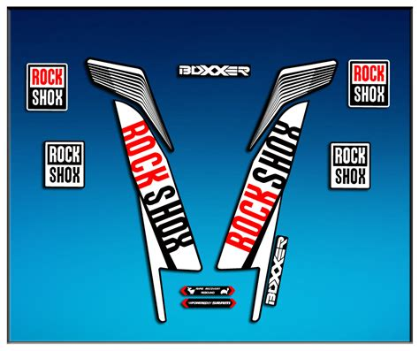 Rock Shox Logo Stickers by Sticker Fork Rock Shox Boxxer World Cup 2016 Am78 Decals