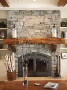 Muskoka Chair Natural Stone Fireplace Farmhouse Family Room