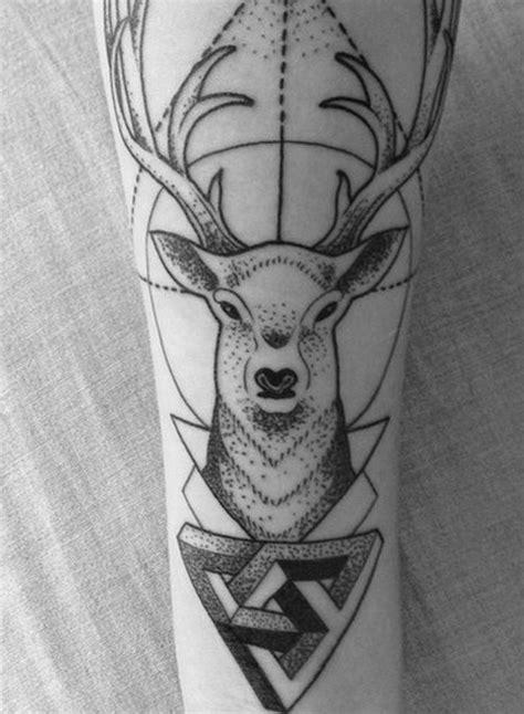 geometric elk tattoo deer geometric tattoo tattoos pinterest beautiful