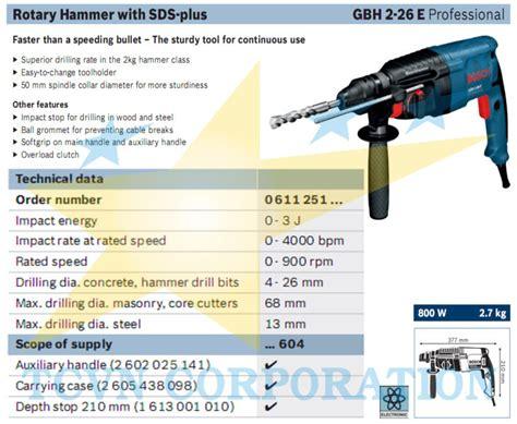 Bor Bosch Gbh 2 22re rotary hammer bosch gbh 2 26e tcvn