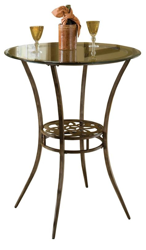 Bar Height Bistro Table Marsala Bar Height Bistro Table Gray Rust Highlights 5435ptb Decor South