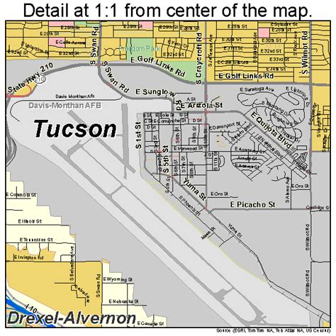 map of tucson tucson arizona map 0477000