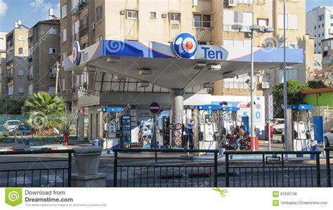 design center rishon lezion petrol station ten in the city center editorial stock